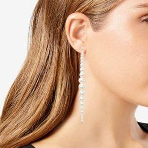 Kate Spade Modern Pearl Linear Drop Earrings NWT
